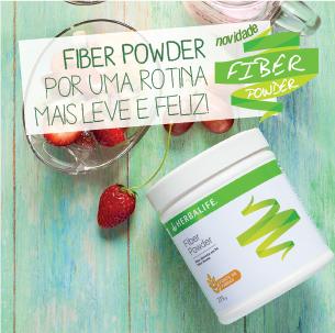 Fiber powder Herbalife fibra em po foco em vida saudavel