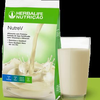 nutrev herbalife alimento com proteina de soja fortificado com vitaminas e minerais